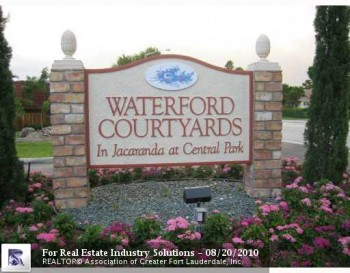 Waterford Courtyards Townhomes Plantation Fl 33324