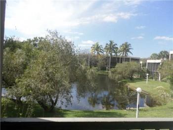 harvest condo unit 313 master bedroom view of pond