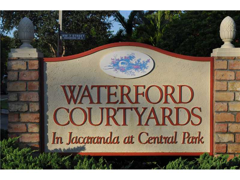 Recent Sales in Waterford Courtyards – Plantation Florida Townhomes