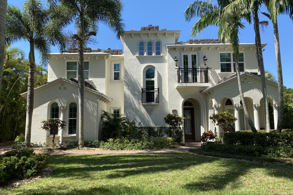 house with new roof installed in the abacoa neighborhood of valencia jupiter fl