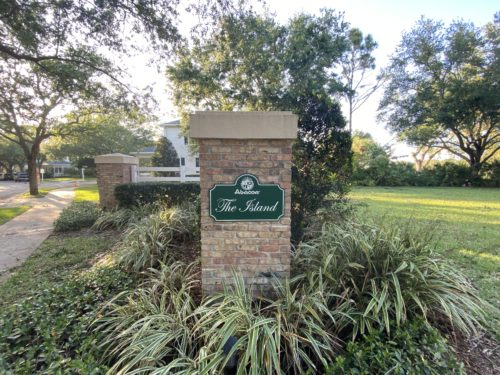 Entrance Sign Leading into The Island at Abacoa Jupiter Florida neighborhood in Jupiter Florida
