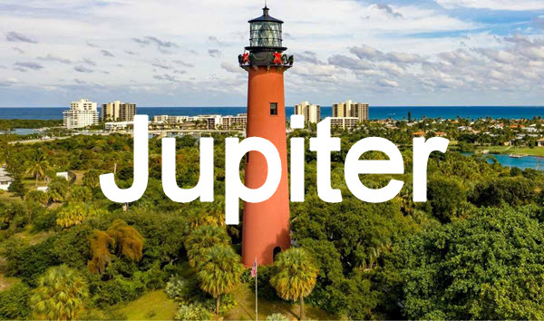 aerial view of the jupiter lighthouse