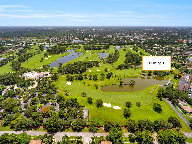 large aerial of Grand Oaks Golf Course Davie Florida