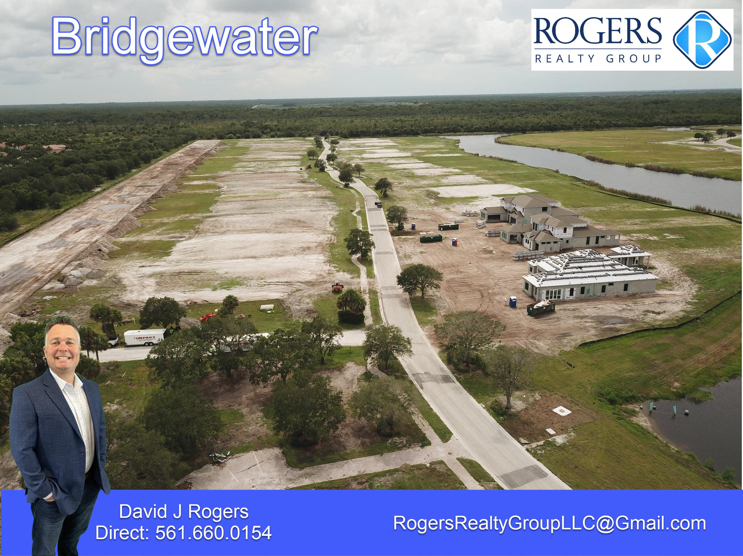aerial view of bridgewater jupiter florida community facing west towards I95 & Florida Turnpike