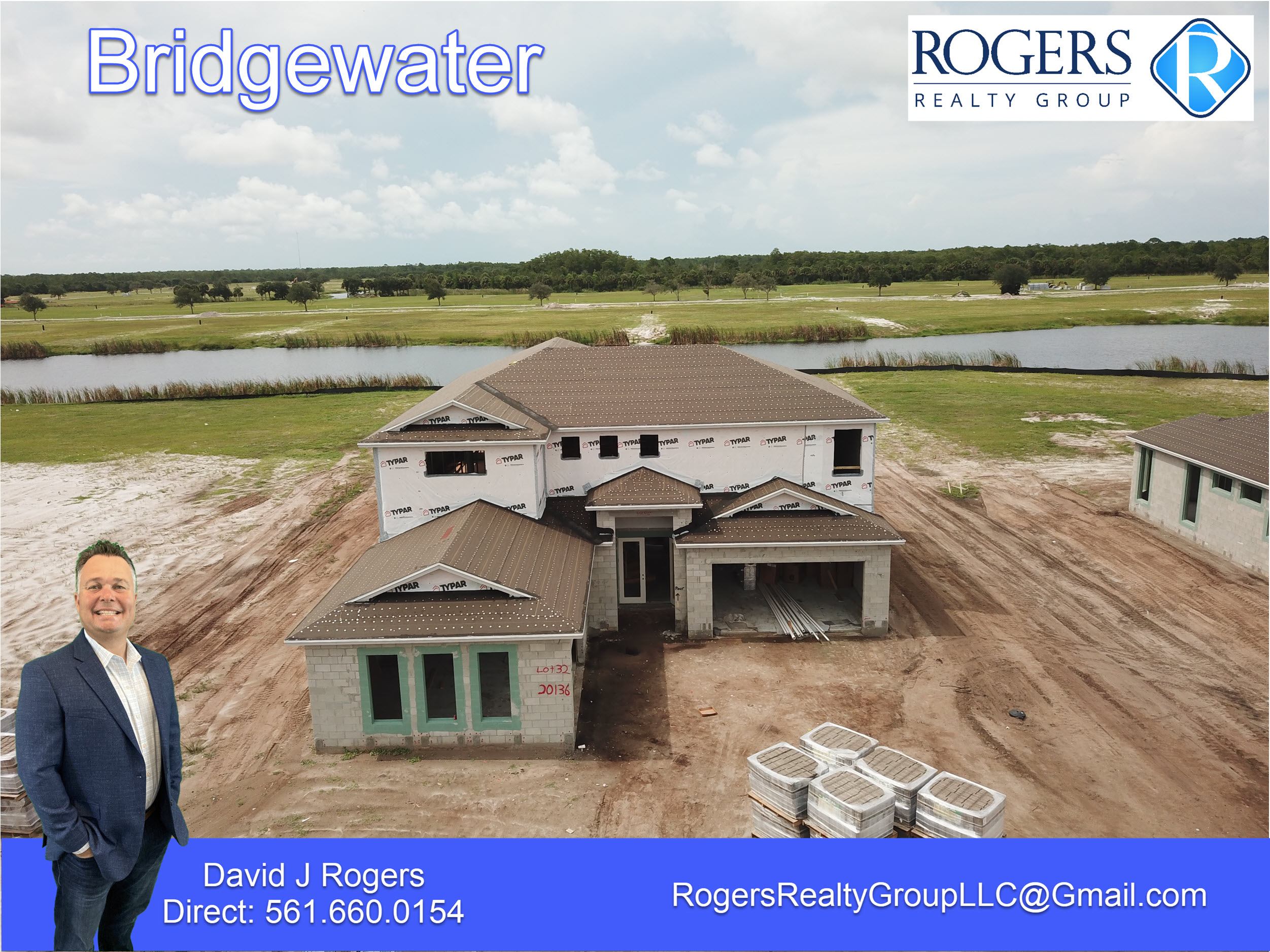 home being built on lot 32 in the gated community of bridgewater jupiter florida