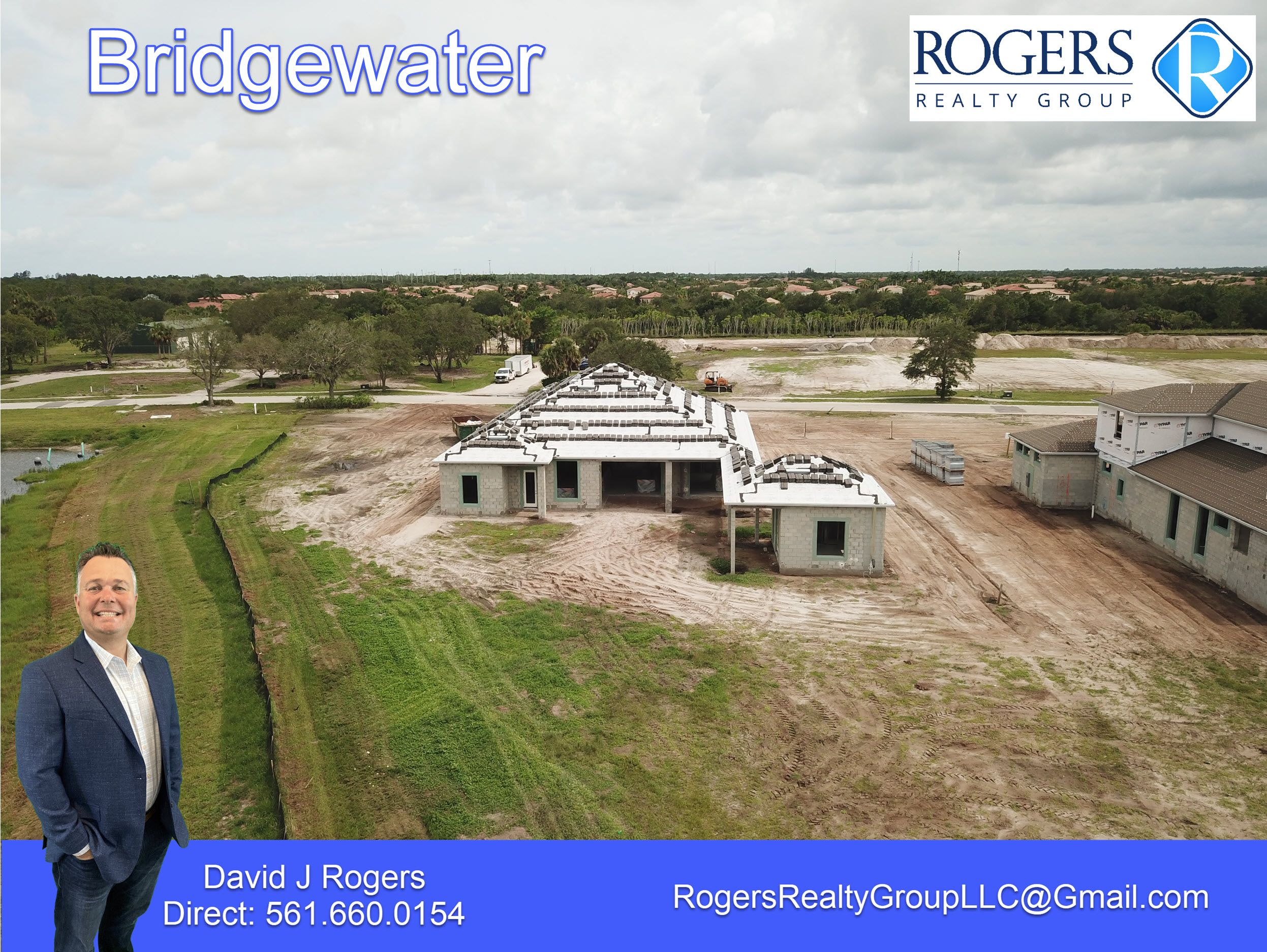 rear view of new construction luxury home on lot 34 in bridgewater community in jupiter fl