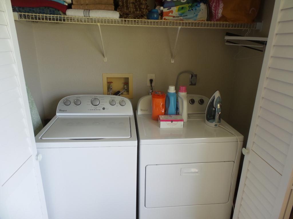 washer and dryer inside condo at isles at lago mar condominium sunrise florida